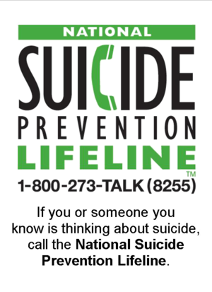 suicide prevention line